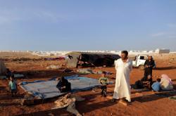 Uprchlický tábor v provincii Idlíb