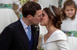 Novomanželé princezna Eugenie a Jack Brooksbank