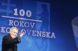 Miloš Zeman na oslavách 100 let Československa v Martině