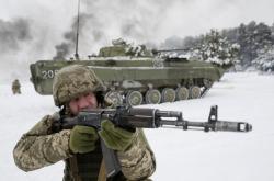 Vojenské cvičení na Ukrajině