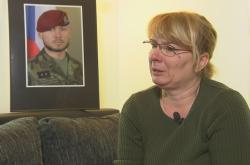 Matka zesnulého vojáka Patrika Štěpánka