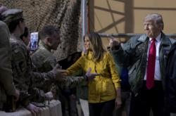Donald a Melania Trumpovi na návštěvě v Iráku