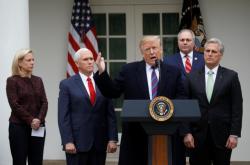 Donald Trump po jednání se zákonodárci