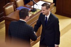 Jakub Janda (ODS) skládá poslanecký slib
