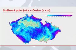 Sněhová pokrývka v Česku