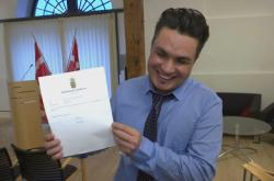 Nový dánský občan, původem z Afghánistánu