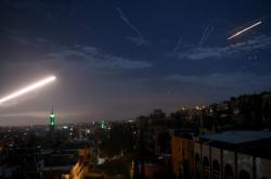 Raketa nad Damaškem