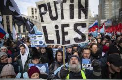 Demonstrace za svobodu internetu v Moskvě