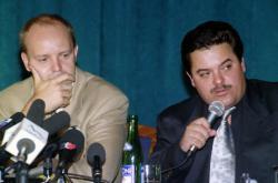 Pavol Rusko a Marián Kočner na snímku z roku 1998