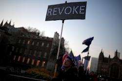 Demonstrace proti brexitu před britským parlamentem