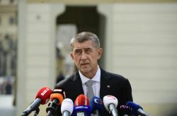 Premiér Andrej Babiš po schůzce s prezidentem