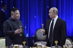 Kim Čong-un a Vladimir Putin ve Vladivostoku