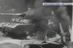 Tank na Trojském mostě ve filmu Němá barikáda