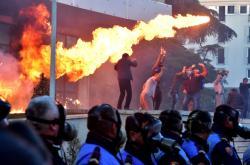 Protivládní protest v Tiraně