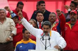 Úřadující prezident Venezuely Nicolás Maduro
