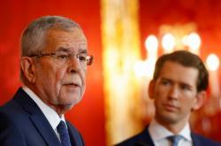 Brífink po společném jednání rakouského prezidenta Van der Bellena a kancléře Sebastiana Kurze