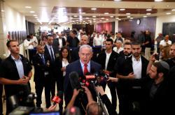 Premiér Benjamin Netanjahu před novináři