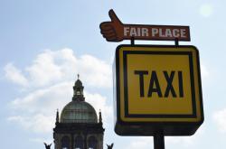 Stanoviště taxi Fair Place na Václavském náměstí