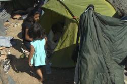 Uprchlický tábor na řeckém Samu