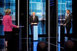 Boris Johnson a Jeremy Hunt v poslední televizní debatě