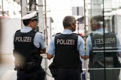 Policie na frankfurtském nádraží