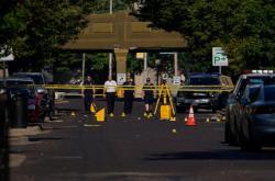 Vyšetřovatelé na místě střelby v Daytonu