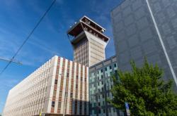 Ústřední telekomunikační budova, kde sídlí společnost CETIN