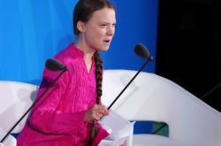 Greta Thunbergová na zahájení klimatického summitu OSN v New Yorku