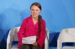 Greta Thunbegová na zahájení klimatického summitu OSN