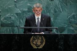Český premiér Andrej Babiš (ANO) v OSN