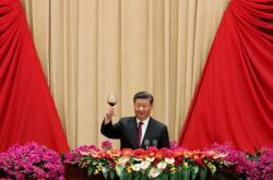 Čínský prezident Si Ťin-pching na oslavách 70 let komunistické Číny