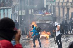 Protesty v Quitu