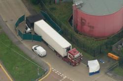Kamion stál v průmyslové zóně ve městě Grays