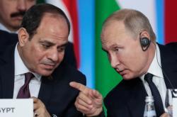Abdal Fattáh Sísí a Vladimir Putin na rusko-africkém summitu v Soči