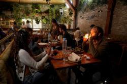Kavárna Lowell Farms v Kalifornii