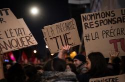 Studentský protest v Paříži