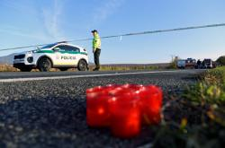 Místo tragické nehody autobusu u Nitry