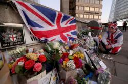 Květiny na místě útoku v Londýně