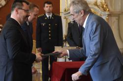 Prezident Miloš Zeman a Luboš Dörfl