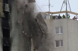 Demolice poničeného prešovského panelového domu