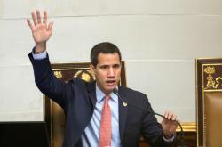 Venezuelský opoziční lídr Juan Guaidó