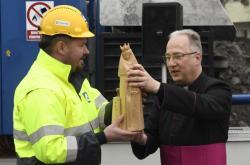 Svěcení sošky svaté Barbory