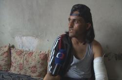 Příslušník proturecké Svobodné syrské armády (FSA)