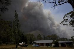 Požár ve městě Bilpin