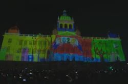 Novoroční pražský videomapping