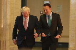Boris Johnson a Leo Varadkar