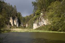Rybník Obora v údolí Plakánek
