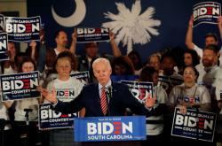 Biden na mítinku v Jižní Karolíně