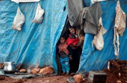 Uprchlický tábor v Idlibu