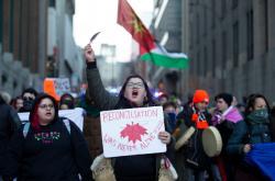 Protest za domorodce v Kanadě